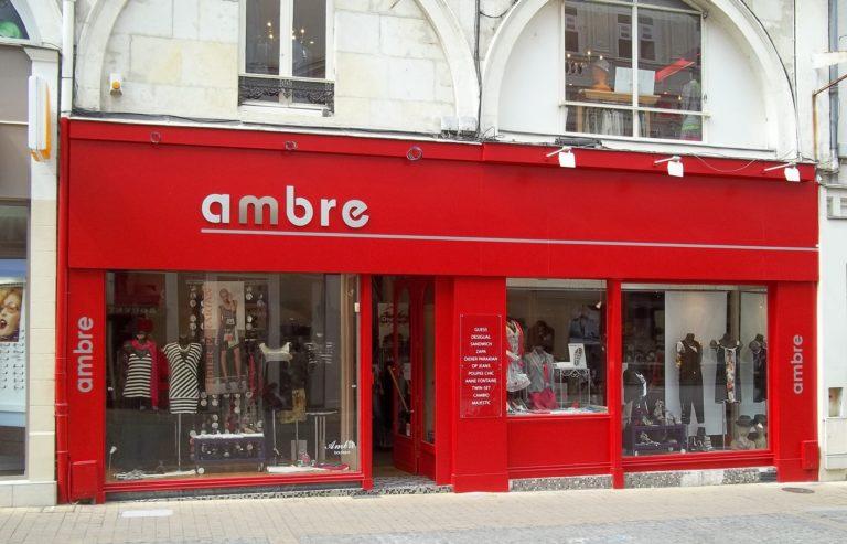Enseigne boutique Ambre