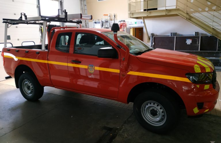 Marquage d'un Véhicule des Pompiers