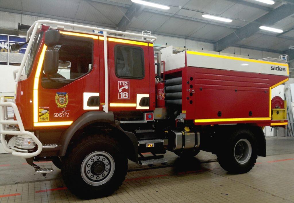adhésifs réfléchissants pour marquage camion pompiers