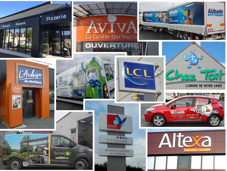 Clients enseignes et marquage véhicules