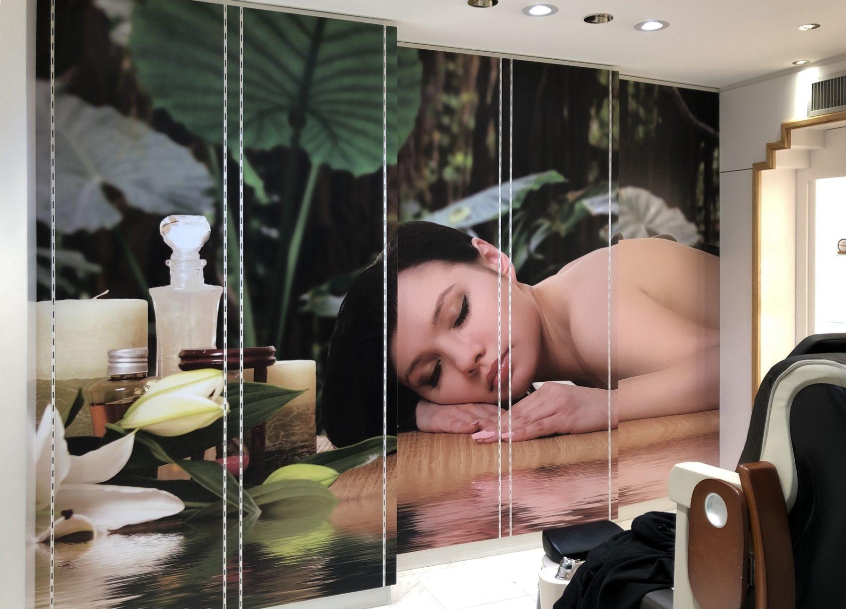 Décoration murale salon de beauté, Le Mans, Sarthe