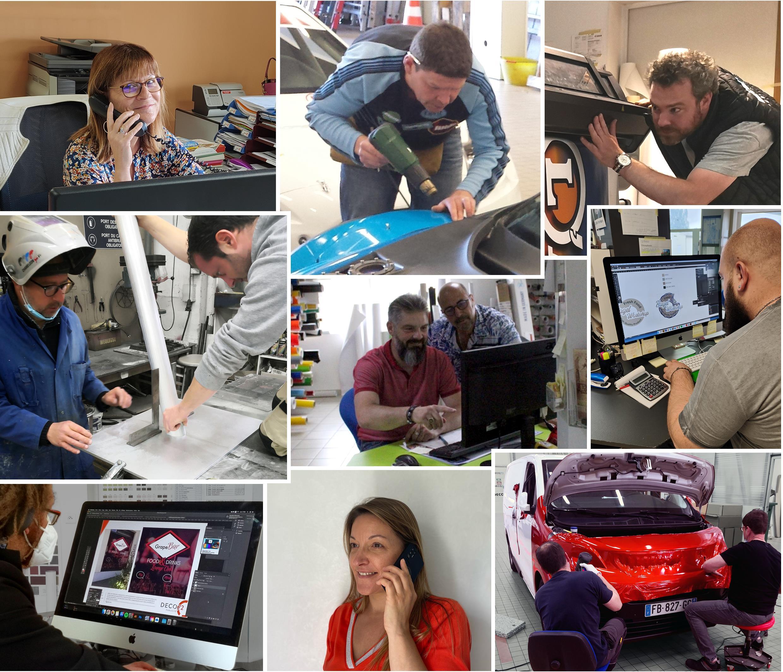 L'équipe de Déco 72, fabricant d'enseigne en Sarthe