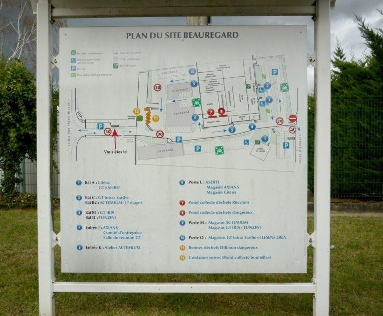 Plan entrée de site industriel