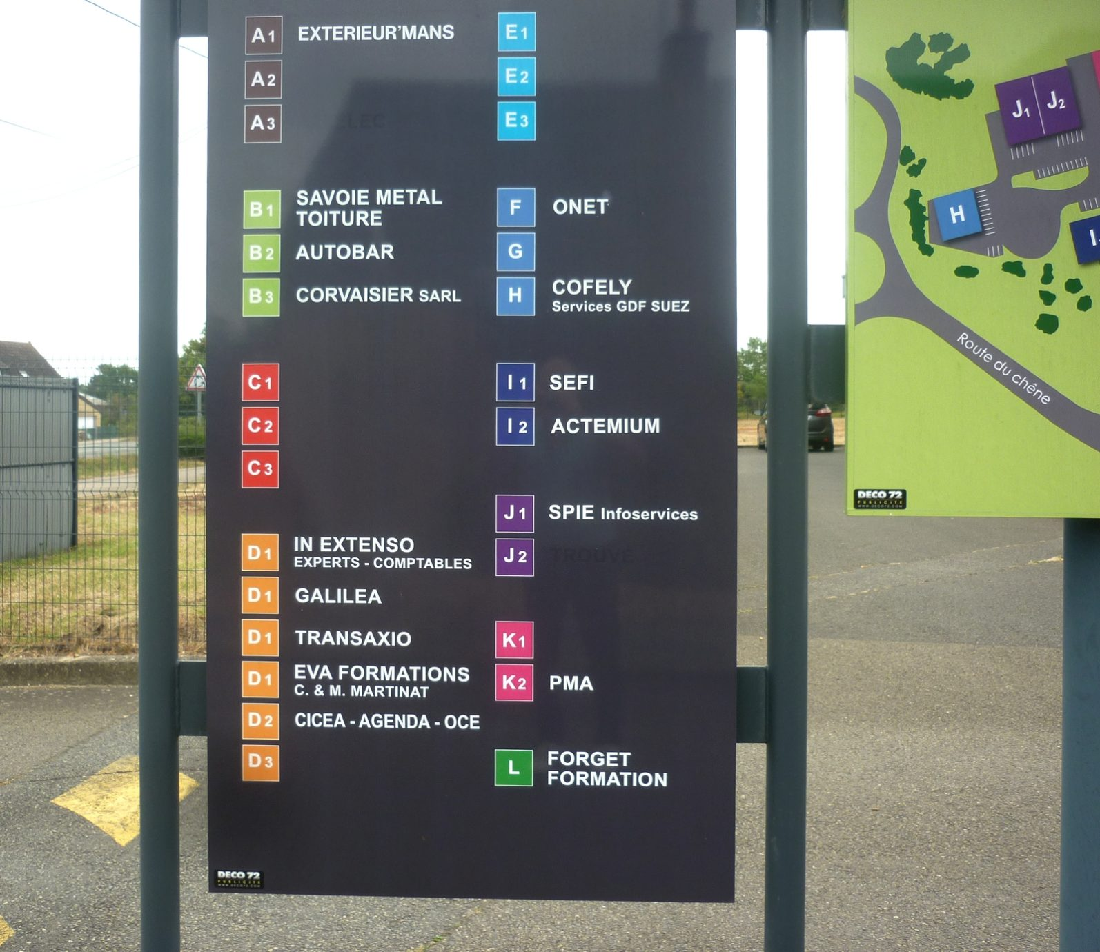 panneau de signalétique directionnelle, Le Mans Sarthe