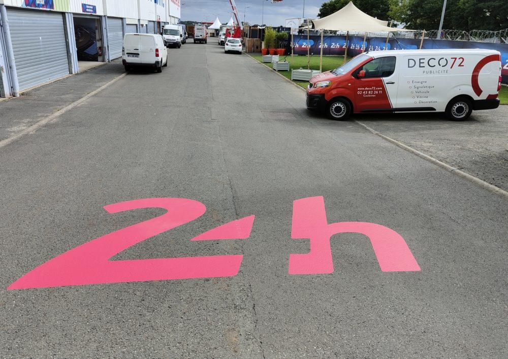 marquage au sol évènementiel,circuit 24h00 du Mans