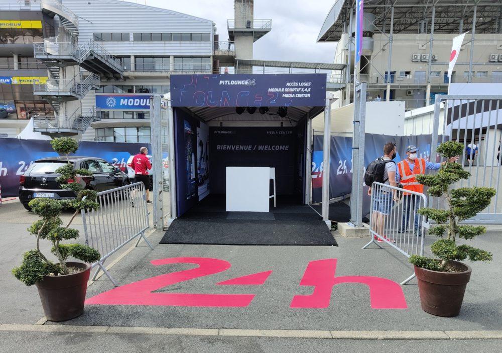 marquage au sol évènementiel pour les 24h00 du Mans
